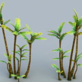 Low-poly Tropical Palm Trees