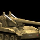 Military M110a2 Self-propelled Artillery