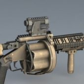 Army M32 Grenade Launcher Weapon