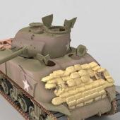 Military M4a1 Sherman Tank Wrecks