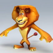 Madagascar Alex Cartoon Character
