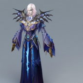 Magic Evil Wizard Game Character
