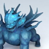 Magic Lion Statue Game Character