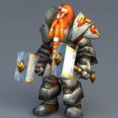 Bronzebeard Warrior Character