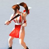 Character Mai Shiranui Rigged Animated