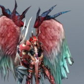 Male Angel Warrior Character