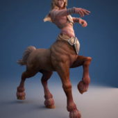 Male Centaur Character Rigged