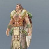 Male Druid Warrior Character