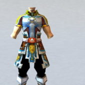Male Character With Light Armor Set