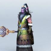 Game Character Male Night Elf Druid