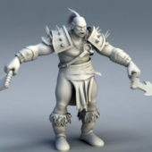 Orc Warrior Character Rig