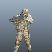 Marine Character Special Forces Soldier