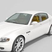 White Maserati Ghibli Car