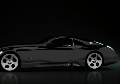 Black Maybach Exelero Sports Car