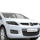White Mazda Cx7 Suv Car