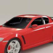 Mazda Rx-8 Red Sedan Car
