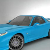 Blue Mazda Rx-8 Spirit Car