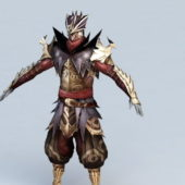 Medieval Game Character Assassin Armor