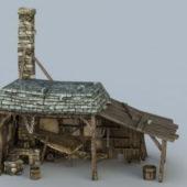 Medieval Vintage Wooden Building