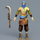 Medieval Brigand Game Character