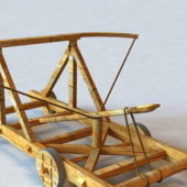Wooden Medieval Catapult