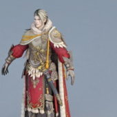 Medieval Guard Captain Character