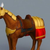 Animal Medieval Horse With Armor