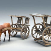 Vintage Medieval Horse With Carriage