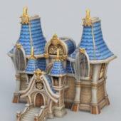 Medieval House Cartoon Style