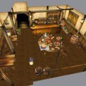 Wooden Medieval Restaurant Design