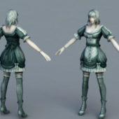 Character Medieval Servant Girl