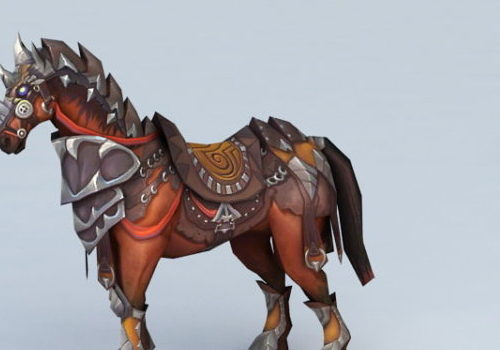 Medieval War Horse Game Character