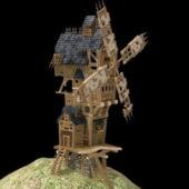 Medieval Vintage Windmill