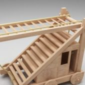 Medieval Wood Siege Ladder