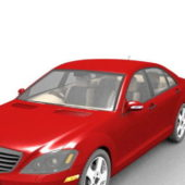 Red Mercedes Benz S Class Car