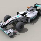 Mercedes F1 Racing Car