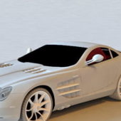 White Mercedes Slr Mclaren Roadster Car