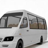 Mercedes Benz White Sprinter Van