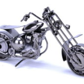 Metal Chopper Motorcycle