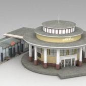 Round Metro Train Station Building