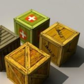 Military Wood Crate Boxes