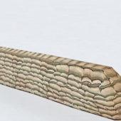 Military Wall Sandbags Fort Building