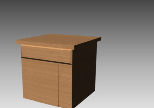 Simple Style Nightstand