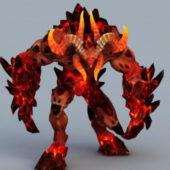 Minotaur Demon Game Character