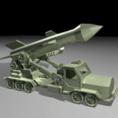Military Missile Launcher Truck Vehicle