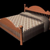 Mission Style Wooden Bed