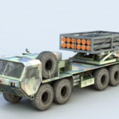 Army Mobile Missile Launcher Truck