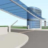 Modernbuilding Front Gates With Gatehouse