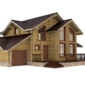 Western Modern Wooden House