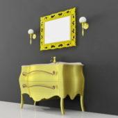 Modern Yellow Painted Bathroom Vanity